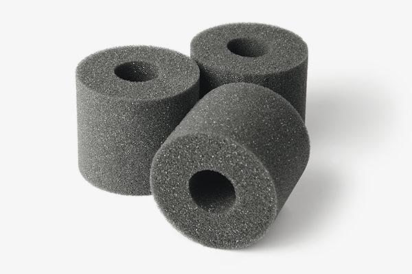 Zylindrische Ringe aus Schaumstoff